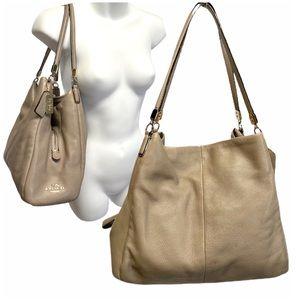COACH Madison Phoebe Tan Beige Taupe Shoulder Bag